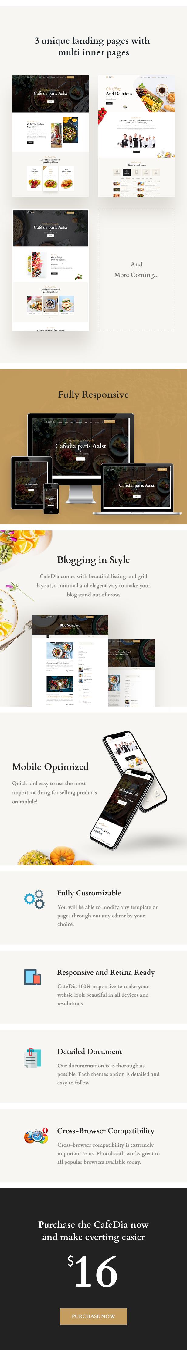 CafeDia- Restaurant HTML5 Template - 3